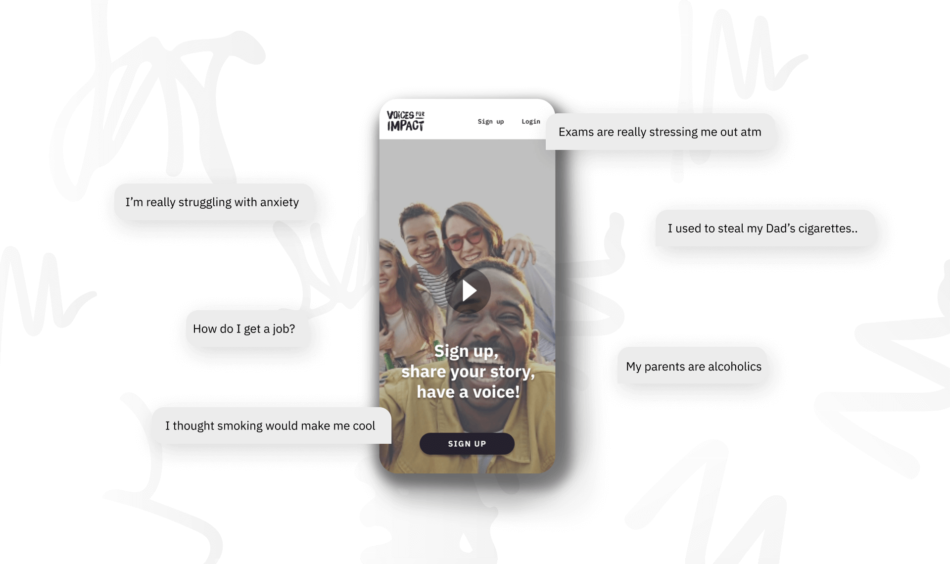 Case Study: Voices for Impact - Mobile App Feature Image